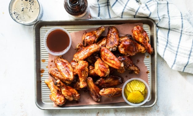 Sticky Chicken Wings with Guinness Bbq Sauce