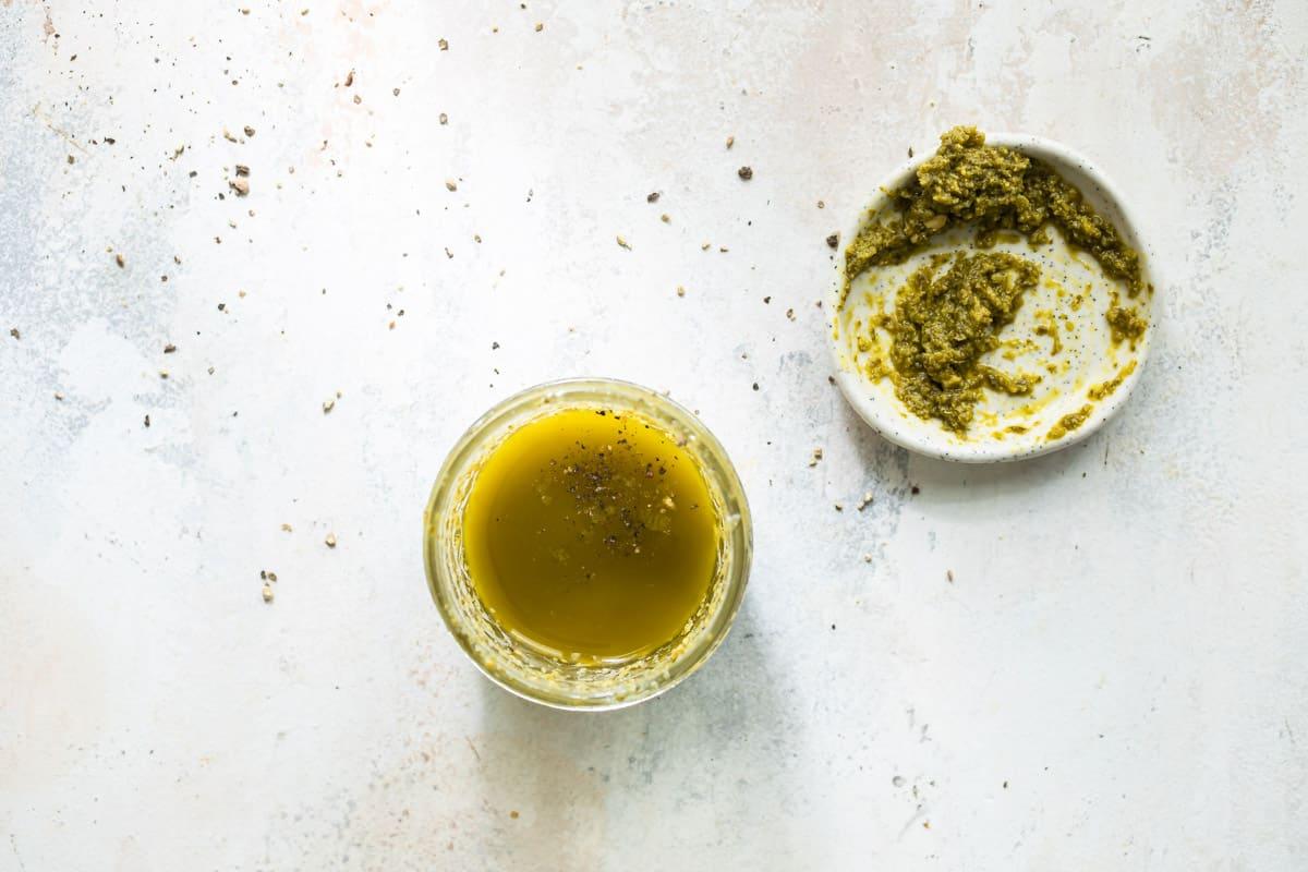 basil pesto salad dressing