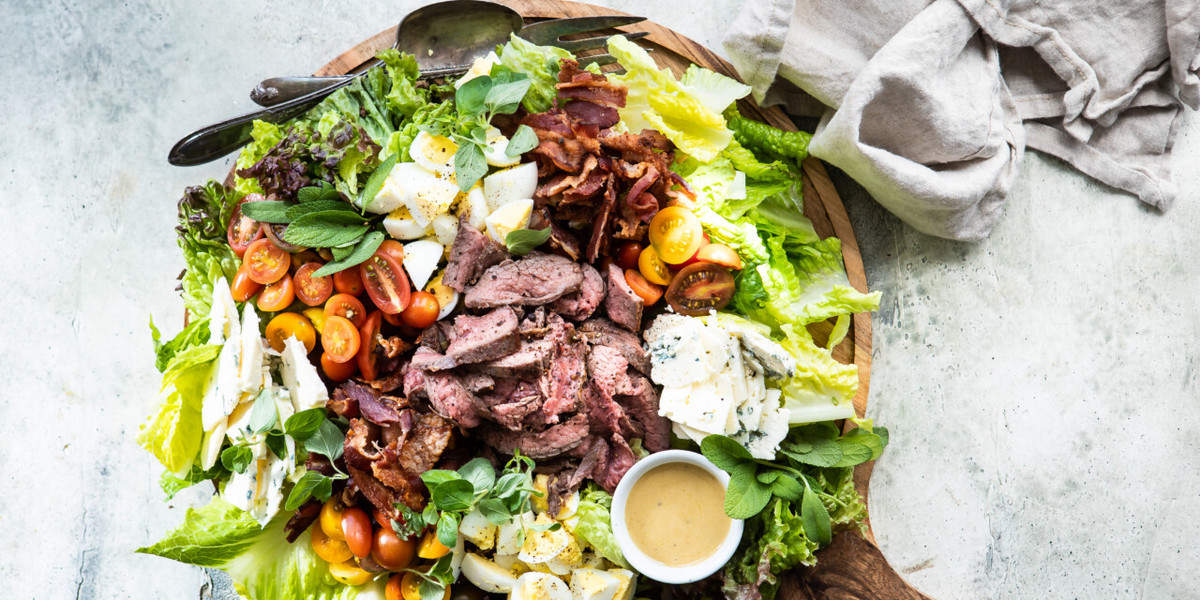 New Zealand Grass-fed Flank Steak Cobb Salad
