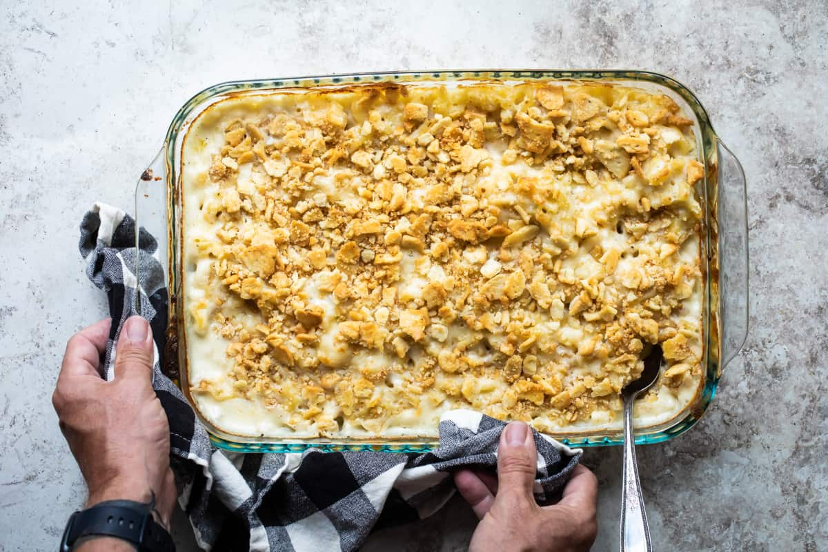 Mac n Cheese with Ranch and Cracker Crumbs