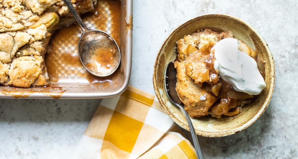 Salted Caramel Apple Cobbler